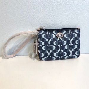 Coach Wristlet Denim/Tan Peyton Dream